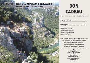 Bon cadeau en via-ferrata près de Montpellier dans l'Hérault et le Gard