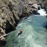 Canyoning Près De Montpellier Dans Les Gorges De L'Hérault Avec De Nombreuses Tyroliennes Et Sauts.