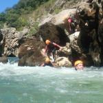Randonnée Aquatique Dans Le Canyon Du Diable Près De Montpellier Dans L'Hérault En Occitanie