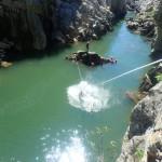 Canyoning Au Canyon Du Diable Près De Montpellier Et Sa Tyrolienne Finale