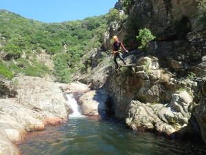 Canyoning entre Béziers et Montpellier au Rec Grand dans l'Hérault au massif du Caroux