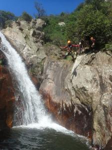 Canyon du Rec Grand aux alentours de Béziers et ses sauts allant jusqu'à 7 mètres