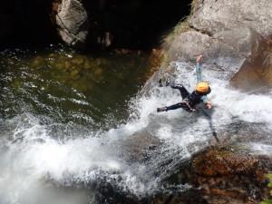 Canyon des cascades d'Orgon dans les Cévennes près du mont Aigoual dans le Gard