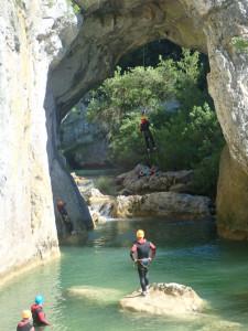 Canyon du Ravin des Arcs près de Montpellier dans l'Hérault en Occitanie.